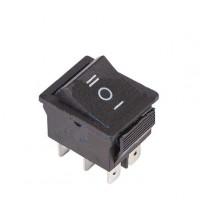 Выключатель клавишный 250В 15А (6с) (ON)-OFF-(ON) с нейтралью (RWB-508 SC-767) черн. Rexant 36-2370