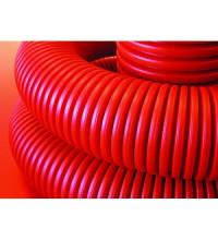Труба гофрированная двустенная ПНД d75мм красн. (уп.50м) ИЭК CTG12-075-K04-050-R